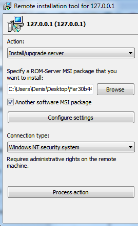 MSI package of another program