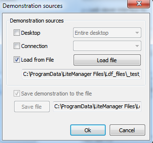 demonstration file can be replayed